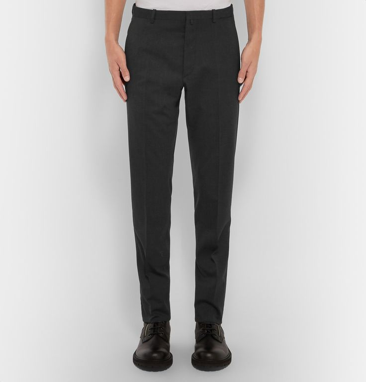 Jil Sander - Achille Slim-Fit Stretch Wool-Blend Trousers