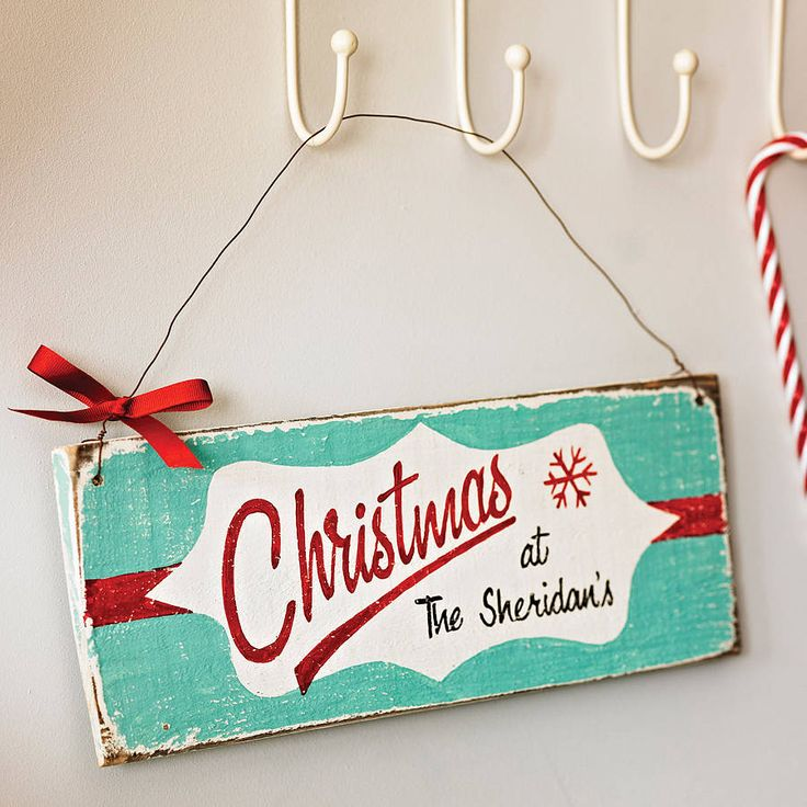 Personalised Vintage Style Christmas Sign kindly donated by delightful living, come along on saturday for your chance to win.