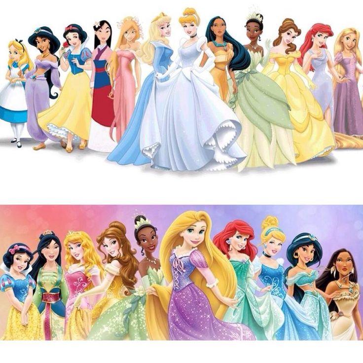 Classic VS Modern Princesses   Official disney princesses ...