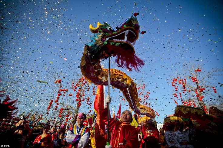 Chinese Dragon Dance to celebrate Chinese New Year