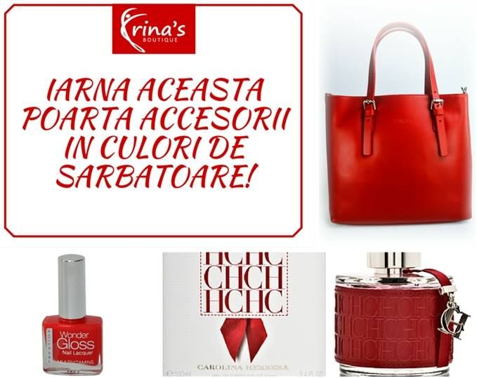 Pregateste-te de Revelion cu cele mai frumoase accesorii pentru femei!  NU UITA! Pana pe 31 decembrie beneficiezi de -20% REDUCERE la ORICE PRODUS! Te asteptam sa alegi cele mai frumoase accesorii din piele, parfumuri si cosmetice, pentru ca noaptea de Revelion sa fie de neuitat! #irinasboutique #revelion #oferta #reduceri #accesorii #parfumuri #cosmetice