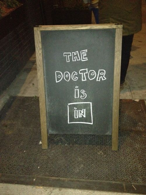 """I guess """"The Doctor"""" drinks at Black Cat in Greenpoint.  Brooklyn, NY 12/03/2011"""