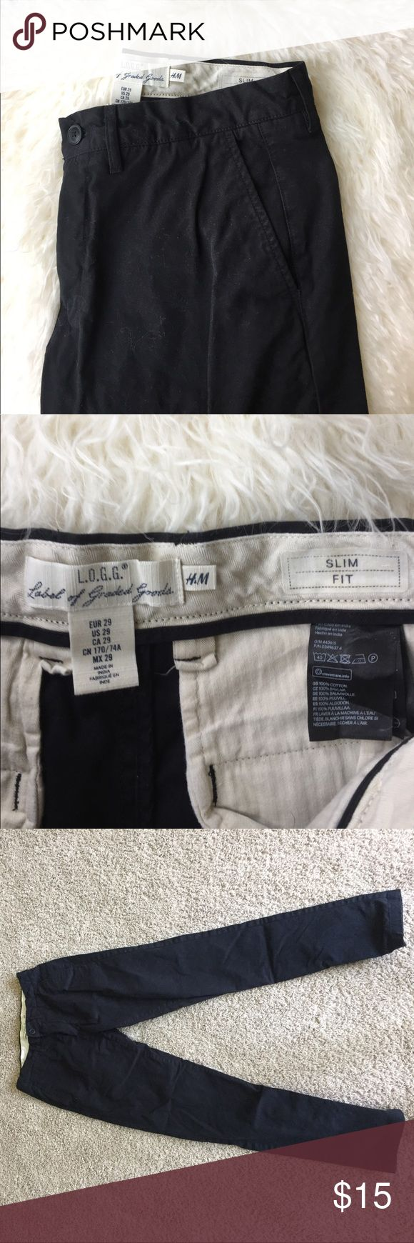 Men slim fit cargo pants Great condition H&M Pants Cargo