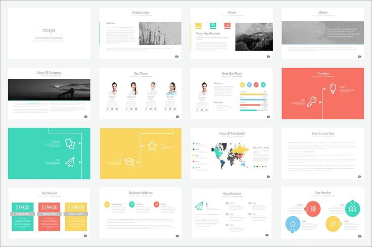 Maya Presentation Template by Ryanda on @creativemarket