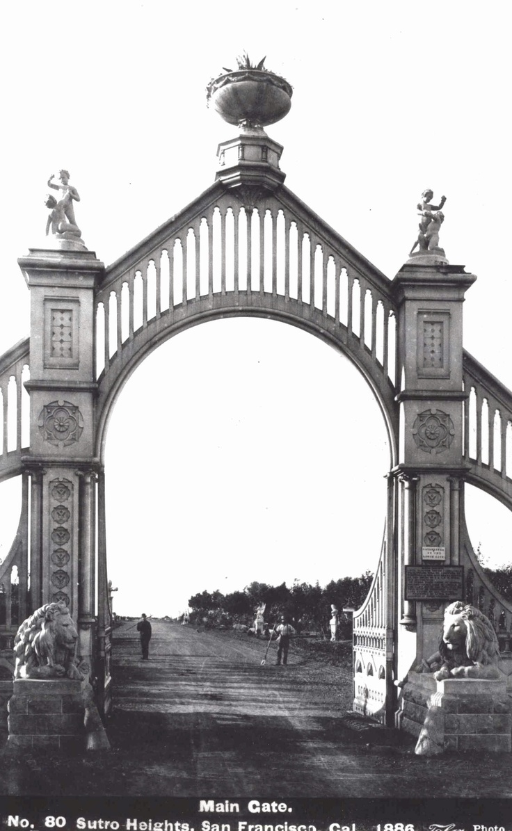 Entrance to Sutro Heights - 1886