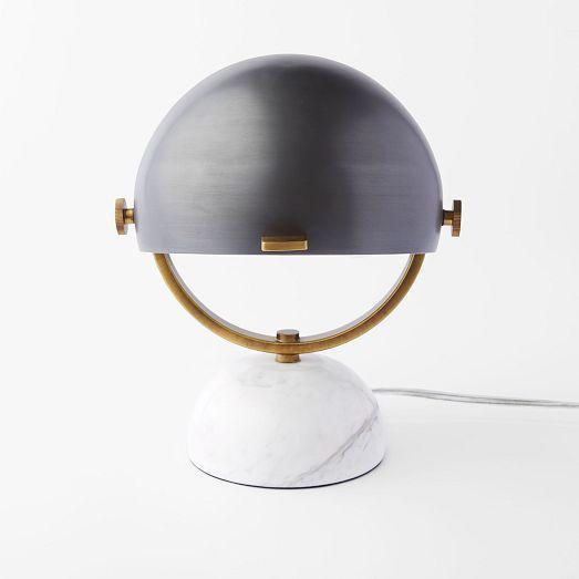 Clint Mini Task Lamp - Marble / Black | west elm