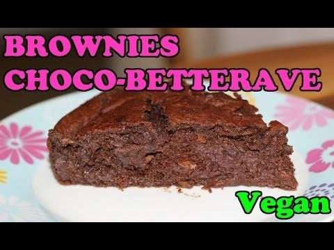 Dessert vegan : Brownies chocolat betteraves