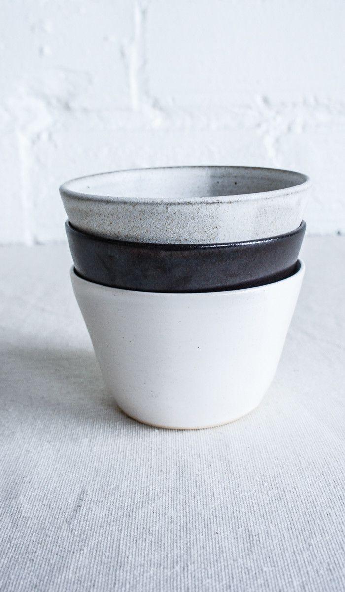 Eric Bonnin Ceramic Ice Cream and Cereal Bowl: Set of 4