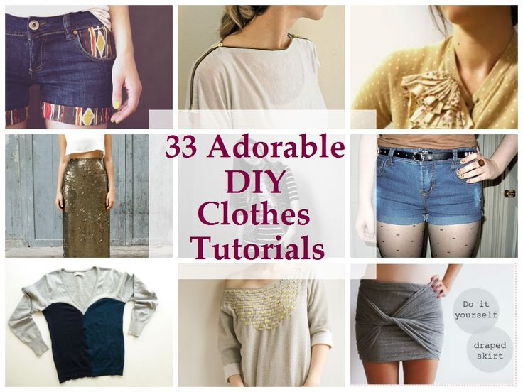 17 best images about diy clothing on pinterest diy fashion bleach 33 adorable diy clothes tutorialslots of cute sewing ideas for thriftold clothes solutioingenieria Gallery