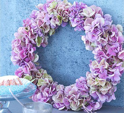 Kranz Hortensien Wianek z hortensji hydrangeas wreath