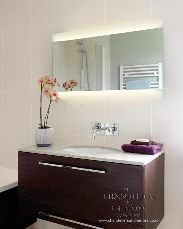 rectangular bathroom mirror with light
