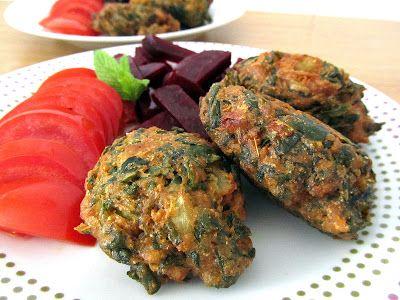 cocina con luz verde: Bhajis de acelgas (buñuelos)