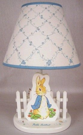 Gorgeous little Peter Rabbit lamp for the baby's room!