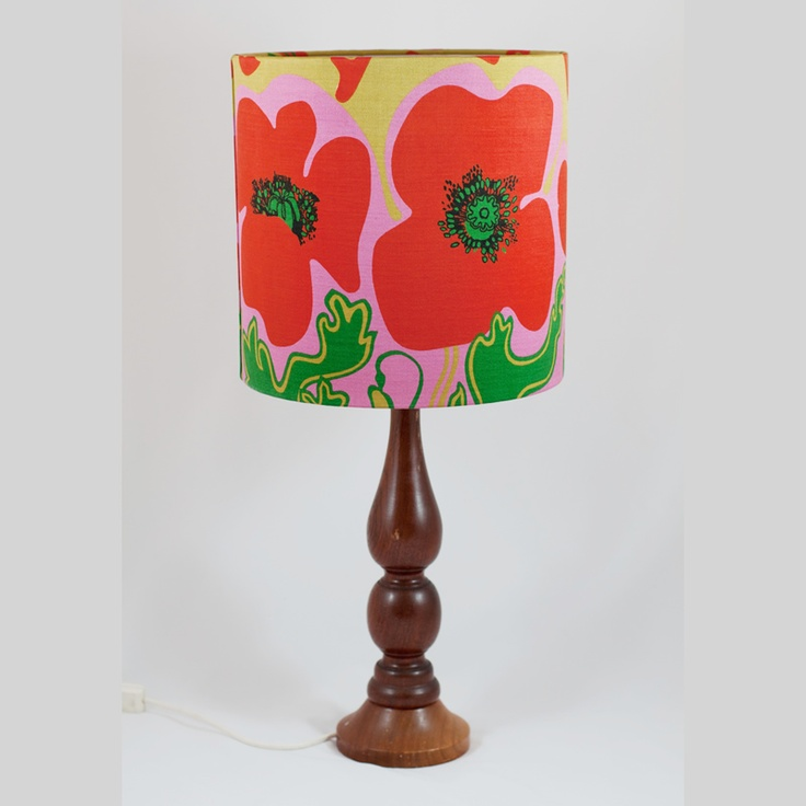 The iconic Sanderson 'Floppy Poppy' fabric made into a stunning lampshade.