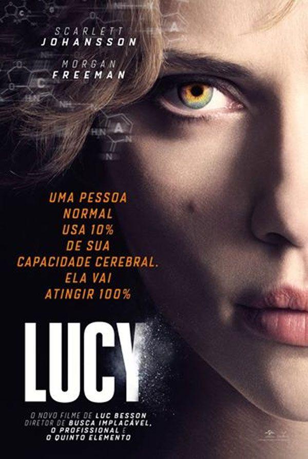 """Cartaz nacional do filme """"Lucy"""" com Scarlett Johansson http://cinemabh.com/imagens/cartaz-nacional-do-filme-lucy-com-scarlett-johansson"""