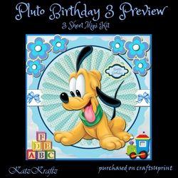Pluto Birthday 3 Mini Kit on Craftsuprint - View Now!
