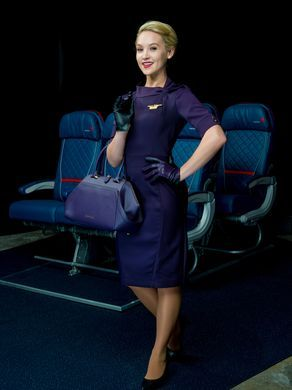One of the new Delta flight attendant uniforms.