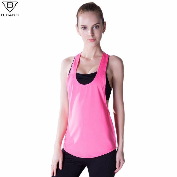 B.BANG женщины спортивные рубашки йога спортивный костюм женскийвершины фитнес  одежда для женщин быстро сухой дышащий топы S / M / L