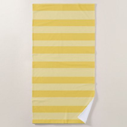 #Yellow Bold Stripe Beach Towel - diy cyo customize personalize design