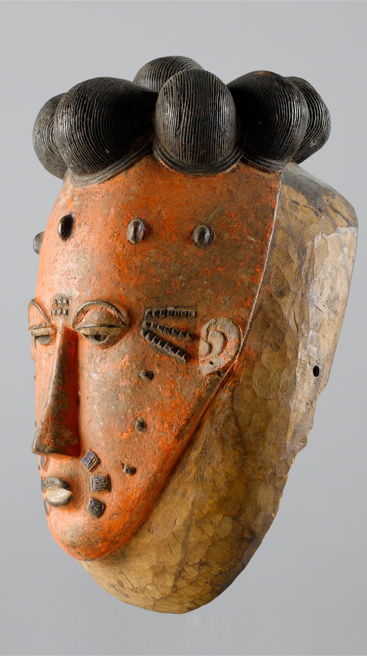 Africa | Mask from the Baule people of the Ivory Coast | Wood and pigment | ca…
