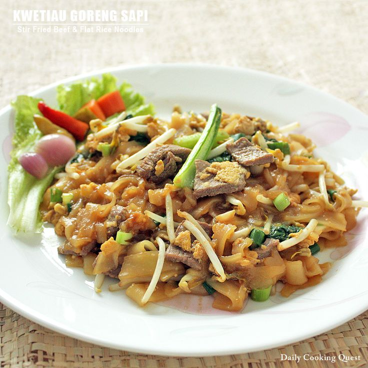 <p>This recipe is a build up from my previous post on Kwetiau Goreng with the addition of beef, egg, and sweet soy sauce. If beef is not your choice of meat, you can also use chicken, shrimp, squid, etc, but we like our beef and hence the recipe. To increase …</p>