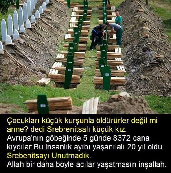 #Srebenitsa ÇÜNKÜ O ZAMAN CANLARI ÇOK ACIMAZ DEĞİL Mİ ANNE.