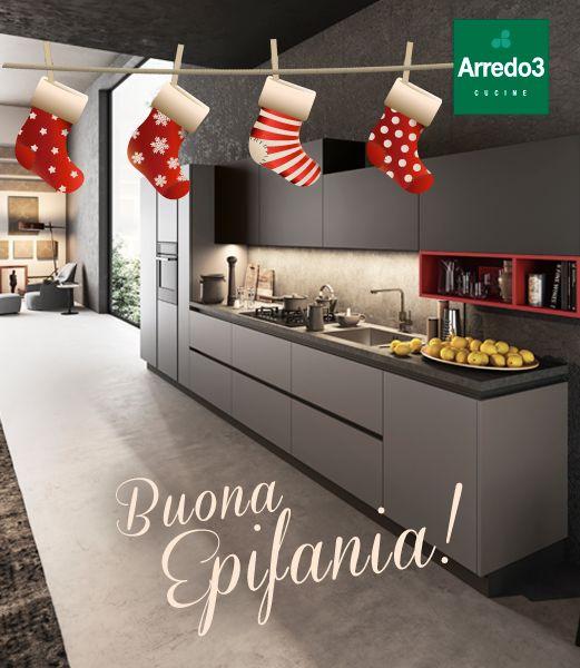 Vi auguriamo una giornata piena di dolcezza… e un anno ricco di fortuna! #Befana #Epifania  http://www.arredo3.it/cucine-moderne/cucina-moderna-time/