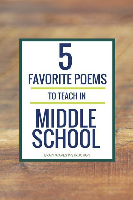 Check out my 5 favorite poems to teach in middle school.  You'll find classics and contemporary poems that will have your students begging for more!