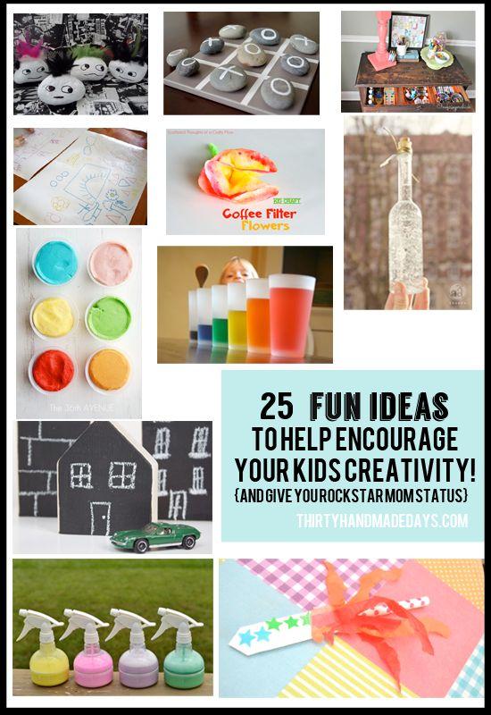 25 Easy & Fun Kids Ideas. I'm down for making some punkROCKS! :)