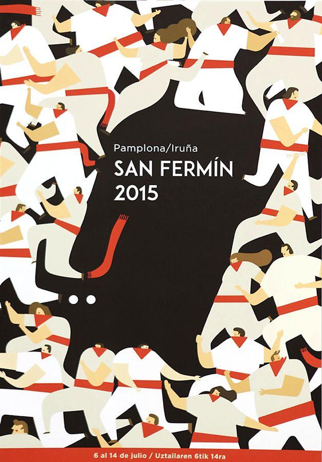 Fêtes de Pampelune : quelle est votre affiche préférée pour la San Fermin 2015 ? - SudOuest.fr