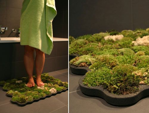 made from foam called plastazote the mat includes ball moss island moss and forest moss the humidity of the bathroom ensures that the - Bathroom Mats