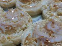Rosca de coco -  Fatias húngaras