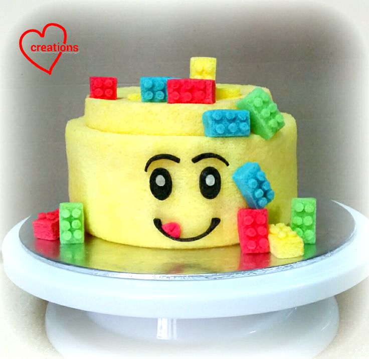 It has been a lego week for me! I made a Legoman Head Chiffon Cake with small chiffon blocks and a Lego (blocks) Chiffon Cake for my f...