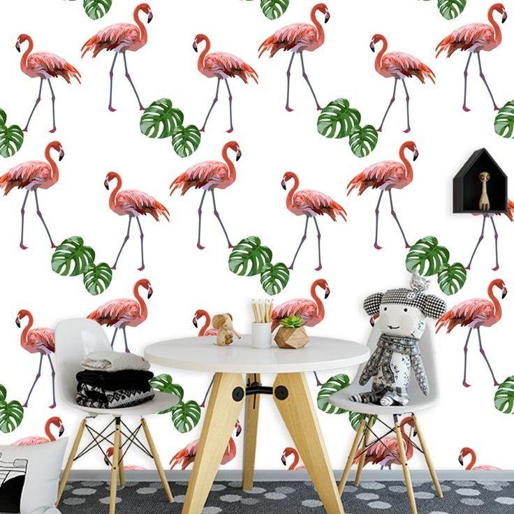 Fotobehang Flamingo patroon 2   Een vrolijk behang in jouw kamer? Het fotobehang Flamingo patroon 2 past zeker bij de sfeer die je zoekt. Het fotobehang is op maat en in verschillende typen behang verkrijgbaar. Zelfs zelfklevend! #fotobehang #behang #behangen #interieur #styling #diy #vliesbehang #zelfklevend #flamingo #flamingos #patroon #illustratie #oranje #meisjes #tiener #slaapkamer