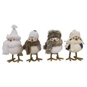 4ct Winter Mountain Decorative Fabric Birds - Wondershop™ : Target