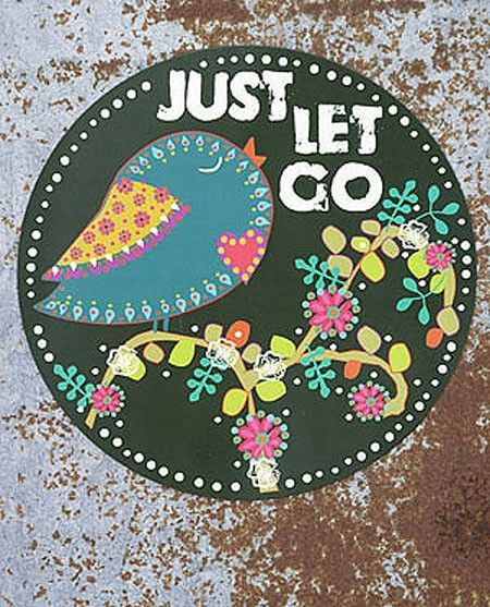 JUST LET GO-CAR MAGNET - Junk GYpSy co.
