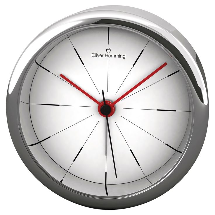 Light and Contemporary Alarm Clock Steel - Oliver Hemming, Grey