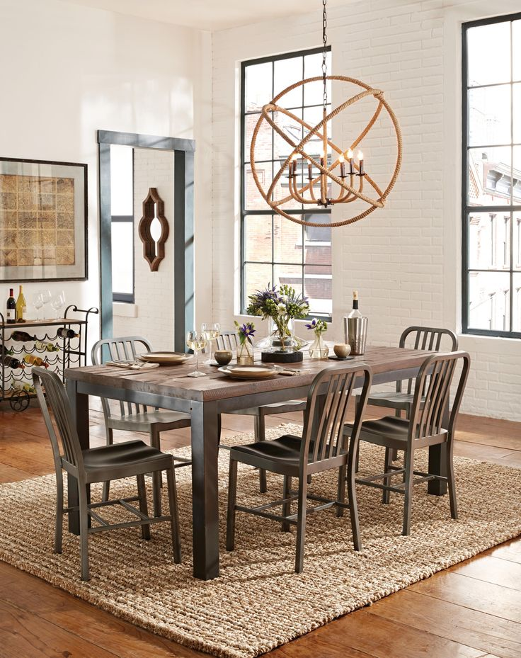The Gabe Wood U0026 Metal Leg Table Exudes The Character Of A European  Farmhouse Antique,. Art VanTable And ChairsDining ...