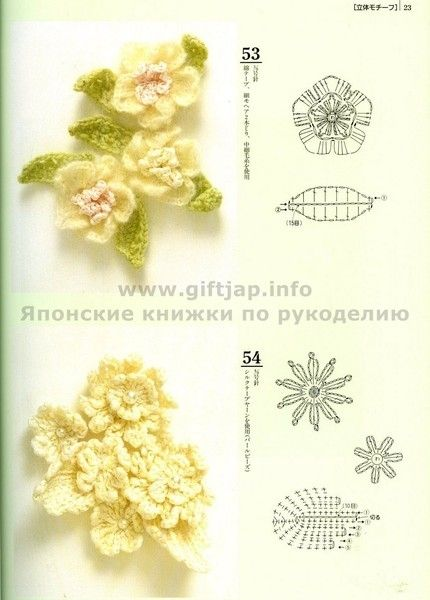 crochet flower with chart