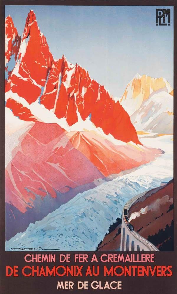 Roger Soubie-De Chamonix au Montenvers-1982 Lithograph
