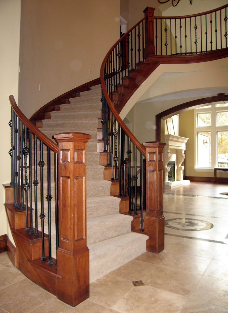 Best Iron And Wood Stair Railing Deck Railing Ideas At Http Awoodrailing Com Stairs Pinterest 640 x 480