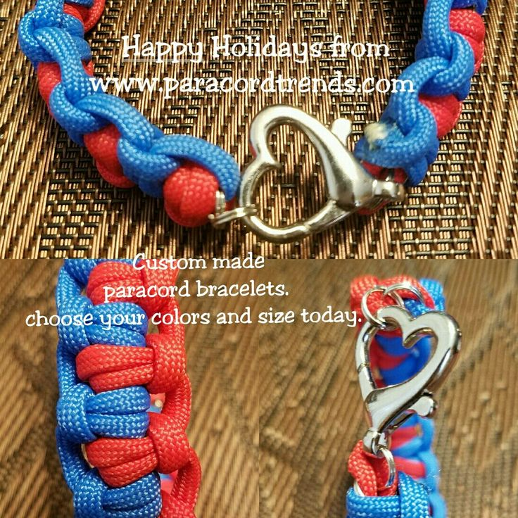 Happy holidays from www.paracordtrends.com  Custom made paracord bracelets for Christmas. Choose your color and size today. Perfect gift for your wife, girlfriend or sister
