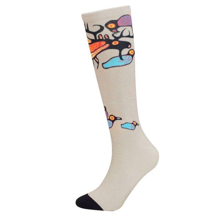 Noval Morrisseau Moose Harmony Art Socks - Available May 2017