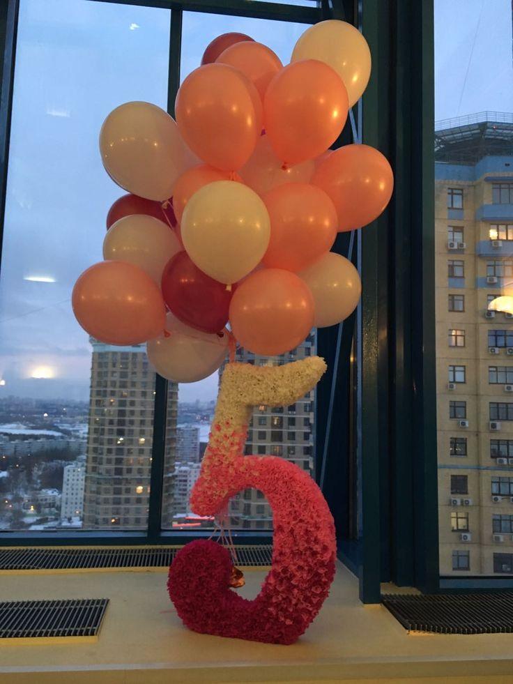 Number for birthday Цифра на день рождения, сделана методом торцевания, размер 80 см