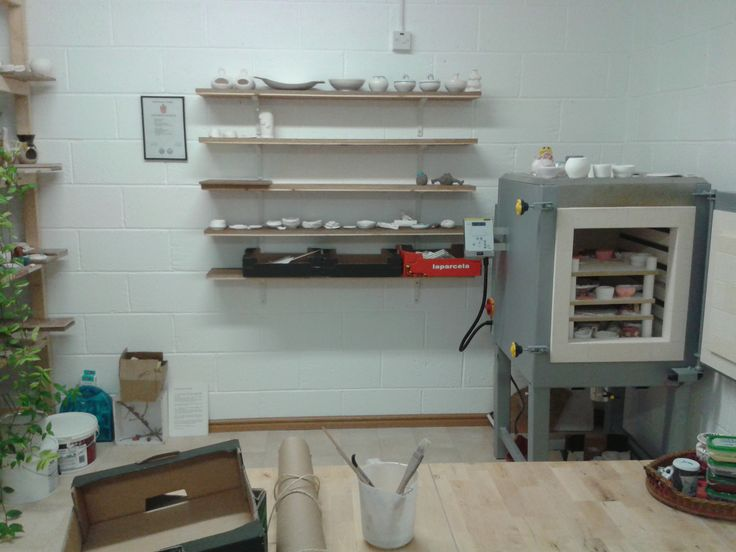 brand new shelving to make the studio more organised