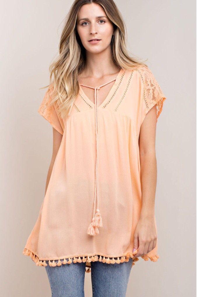 Trendy Tangerine Tunic