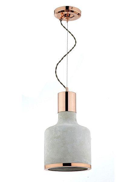 Rhonda Concrete & Copper Round Pendant