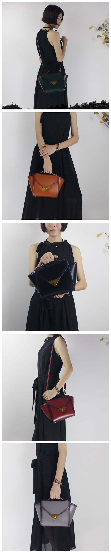 Handmade leather handbag shoulder bag winged for women leather fashion bag 14066
