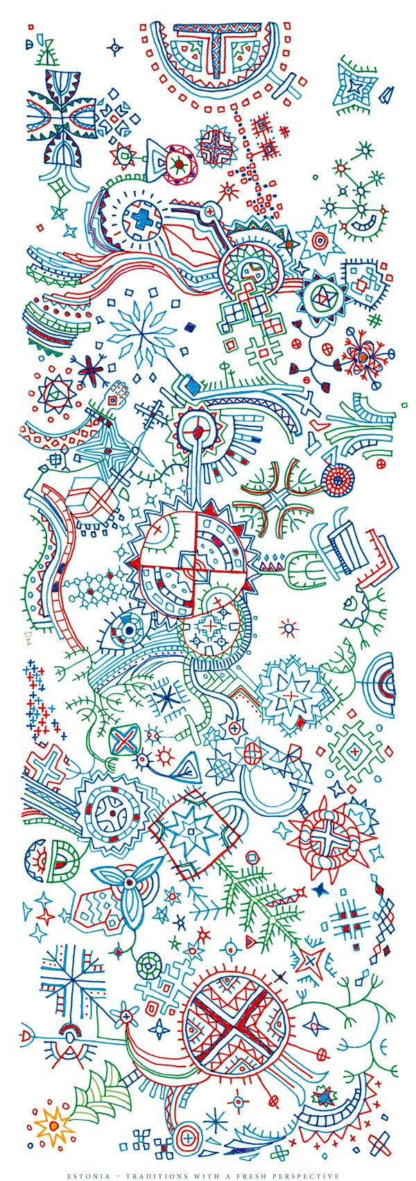 This is just gorgeous. Based on Estonian folk art. Amazing how beautiful something simple can be.