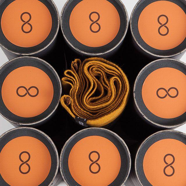 Snood orange gomme-gutte & marron - Écharpe tubulaire 100% Française - https://snood.fr/la-gamme/10-orange-gomme-gutte-marron.html
